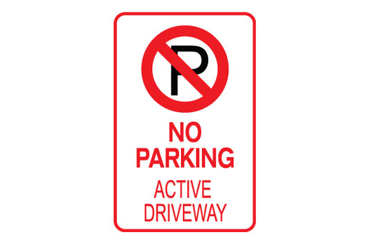No Parking Active Drive Way