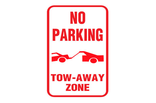 No parking Tow-away Zone