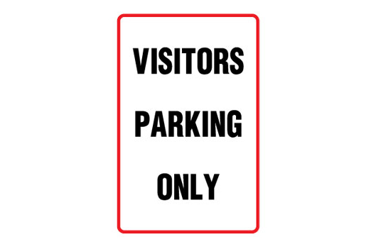 Visitors Parking Only