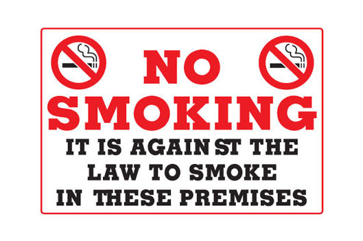 It Is Against The Law To Smoke In These Premises