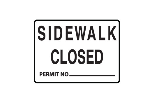 Sidewalk Closed,Permint number