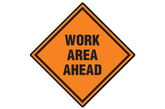 Work Area Ahead