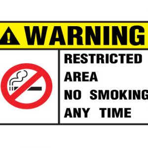 Warning Restricted Area