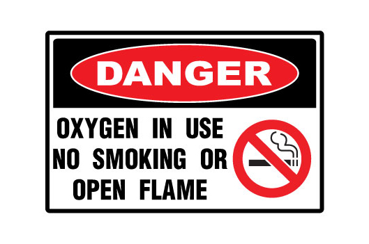 Oxygen In Use No Smoking Or Open Flame