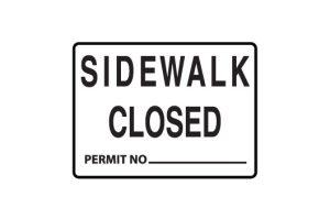 Sidewalk Closed,Permint number