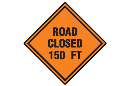 Road Closed 150 Ft