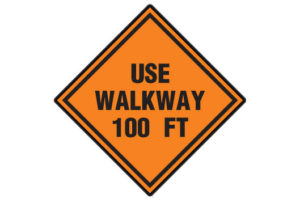 Use walkway 100ft