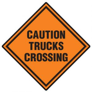 Caution Truck Crossing
