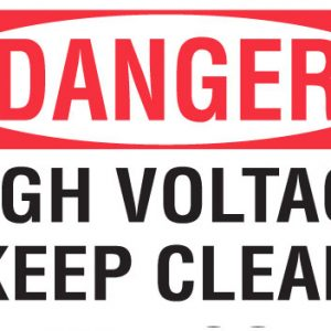 High voltage keep clear