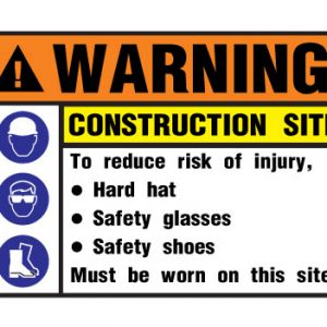 Warning Construction Site