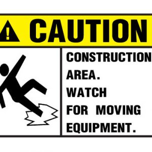 Construction Area Move from moving equipment
