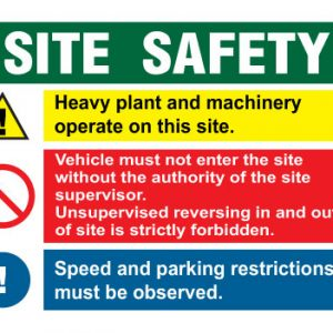 Area Under Construction Site safety