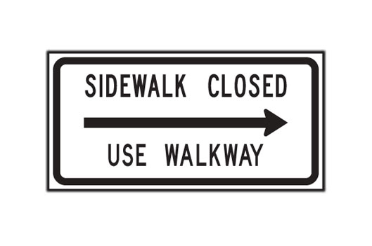 Sidewalk Closed Use Walkway